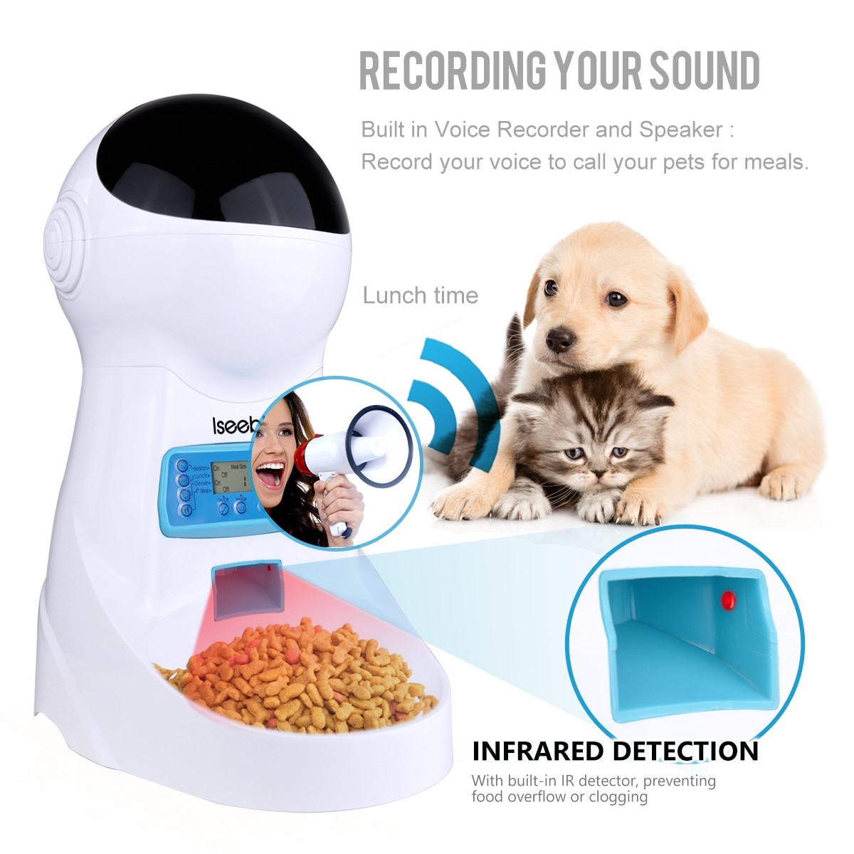 LCD Screen Automatic Pet Feeder