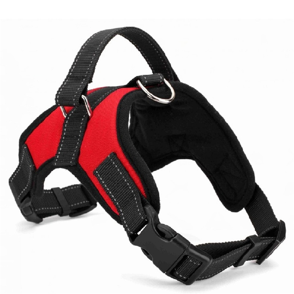 red with black Nylon Harness for Dogs