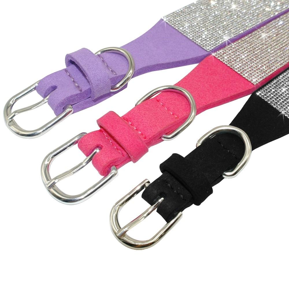 Luxury Rhinestone Leather Pets Collar