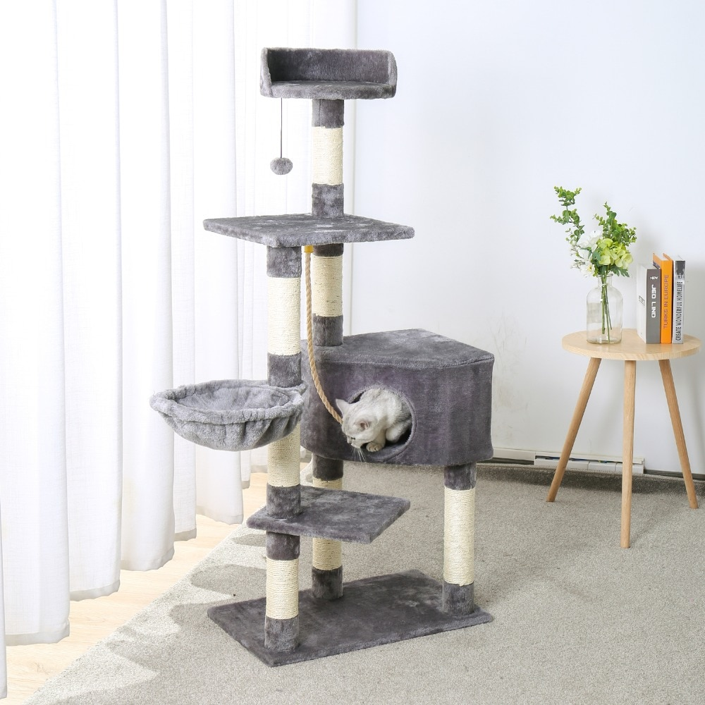 cat house and tower