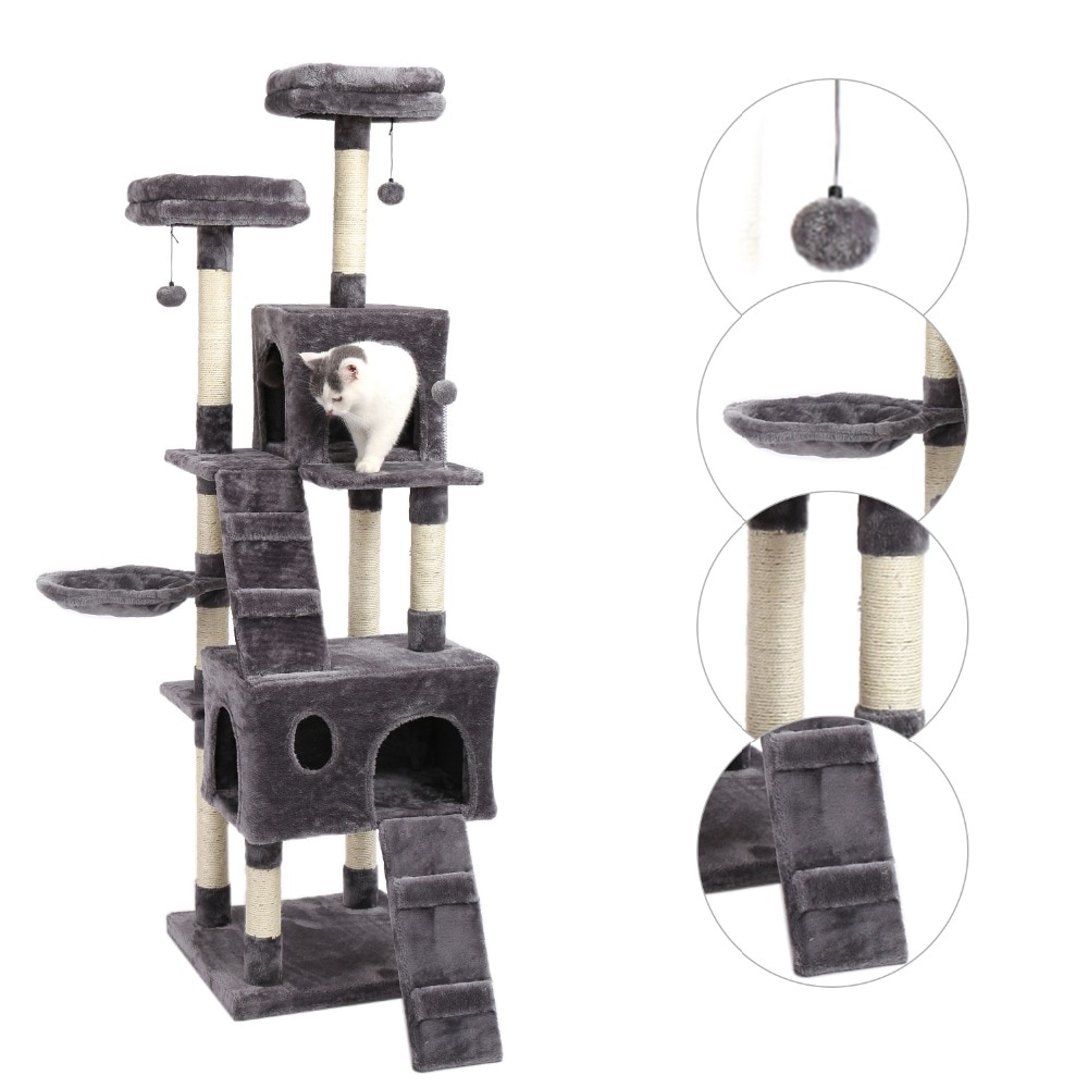 cat tower features