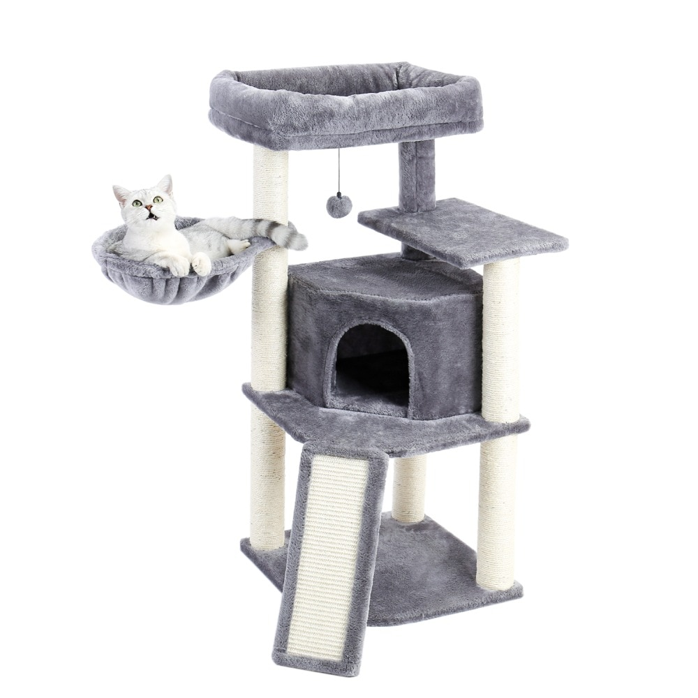 cat tower with beds