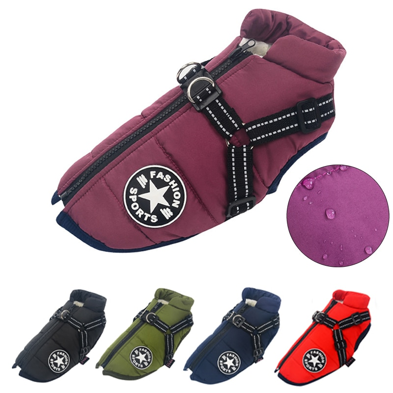 Dog Jacket With Harness