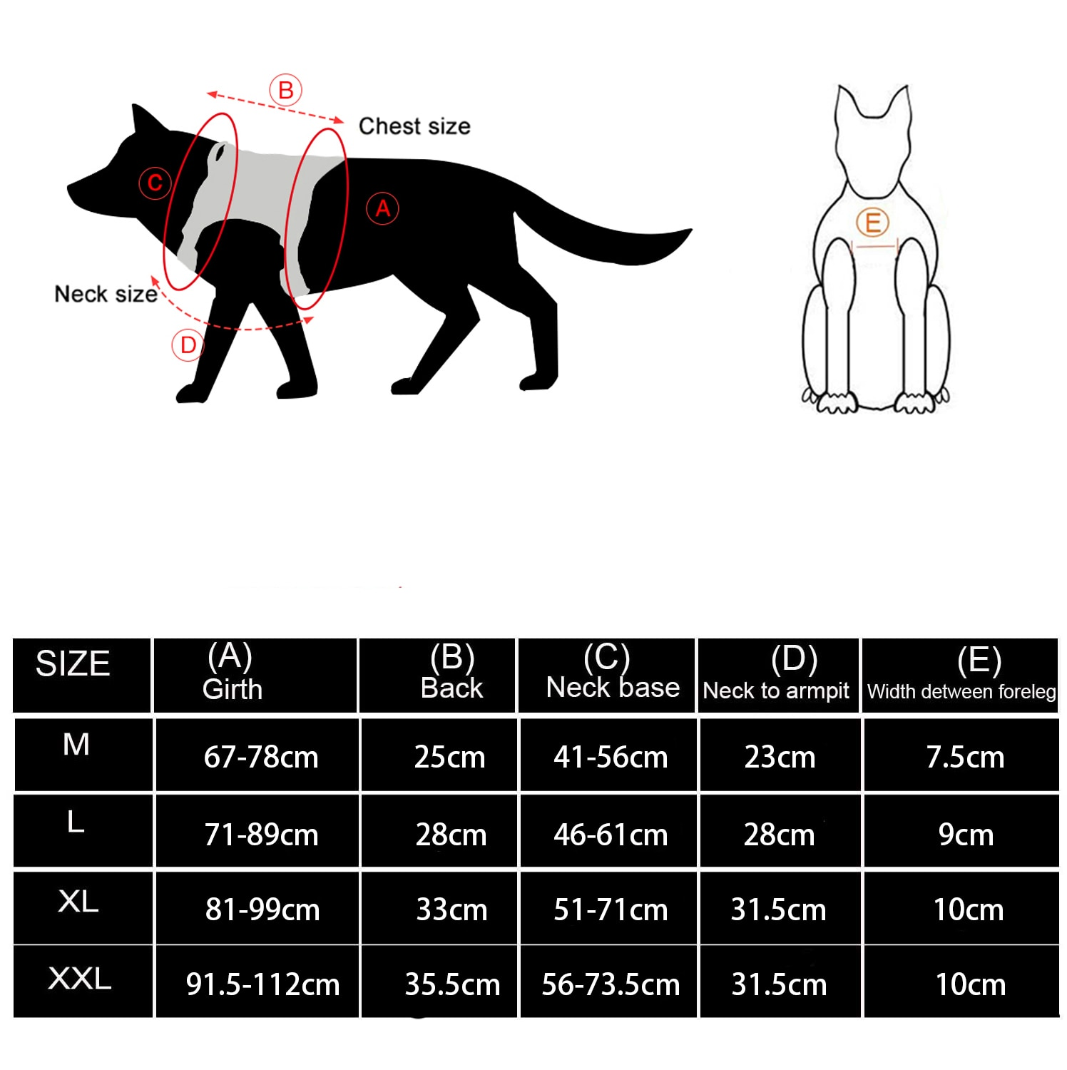 Tactical Dog Harness Sizes
