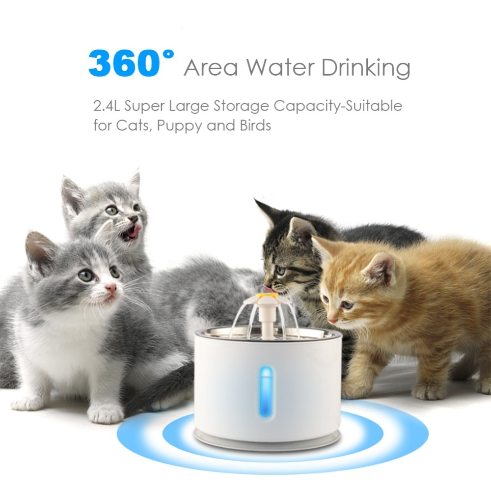 2.4L cat water fountain