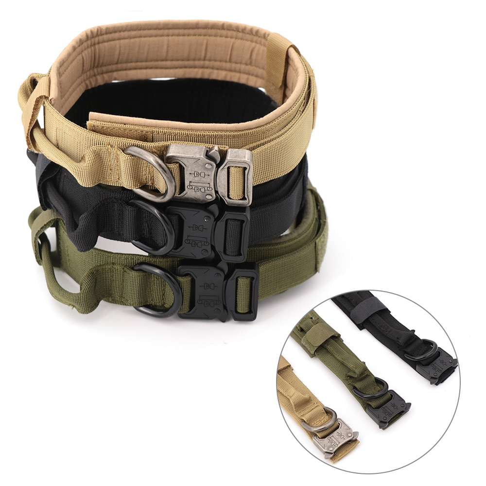 Tactical Military Dog Collar With Handle